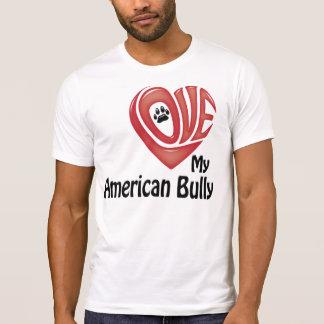 Camiseta, hombres: Ame a mi matón americano Poleras