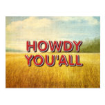 CAMISETA Howdy You'all Tarjetas Postales