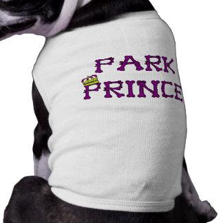 """""""Camiseta huesuda del príncipe"""" perrito del parque Playera Sin Mangas Para Perro"""