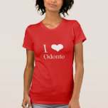 Camiseta I LOVE ODONTO Playeras