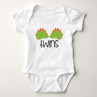 Camiseta idéntica de los bebés de los dinosaurios mameluco de bebé
