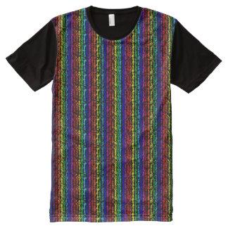 Camiseta ilusoria del panel del arco iris
