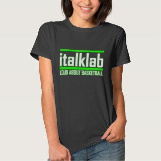 Camiseta impresa neón del italklab de las señoras poleras