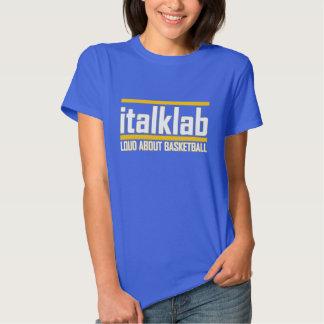 Camiseta impresa oro del italklab de las señoras remeras