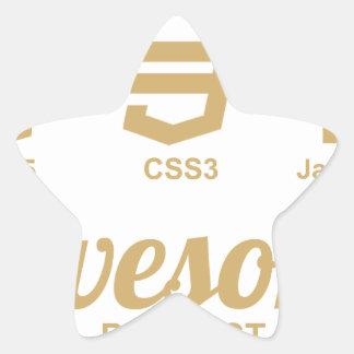 Camiseta impresionante Css3 del diseñador del Web Pegatina En Forma De Estrella