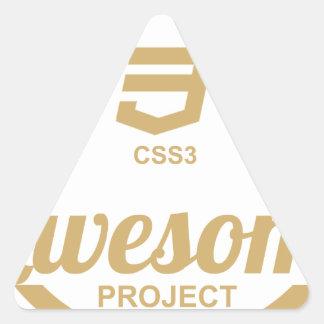 Camiseta impresionante Css3 del diseñador del Web Pegatina Triangular