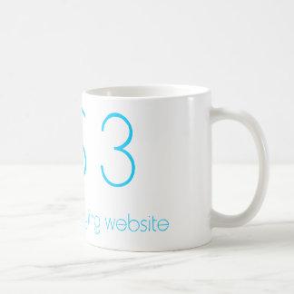 Camiseta impresionante del diseño web del Css 3 Taza Básica Blanca