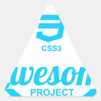 Camiseta impresionante del proyecto Css3 del Pegatina Triangular