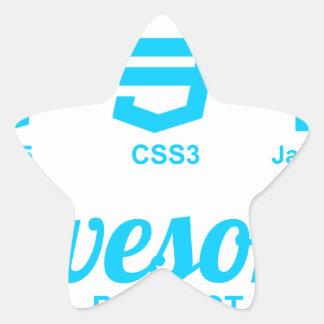 Camiseta impresionante del proyecto Css3 del Pegatina En Forma De Estrella