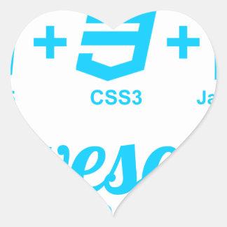 Camiseta impresionante del proyecto Css3 del Pegatina En Forma De Corazón