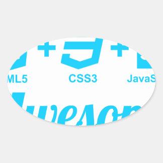 Camiseta impresionante del proyecto Css3 del Pegatina Ovalada