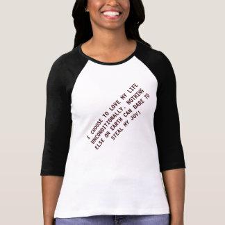 Camiseta incondicional femenina modificada para remera
