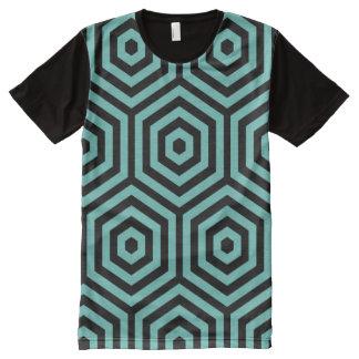 Camiseta inconsútil geométrica hexagonal del