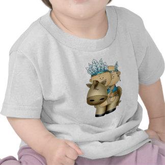 Camiseta india de los bebés w/Horse de los Pals