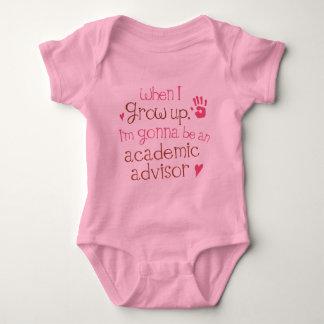 Camiseta infantil académica del bebé del consejero playera
