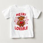Camiseta infantil adorable de Beary Playeras