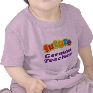 Camiseta infantil alemana del bebé del profesor