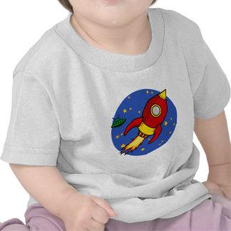 Camiseta infantil amarilla roja de Rocket