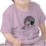 Camiseta infantil apenada cráneo gris del pirata