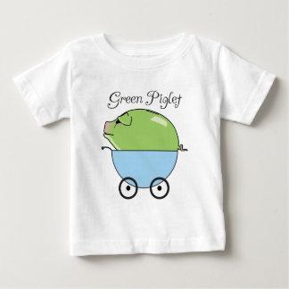 Camiseta infantil (azul) verde del cochinillo