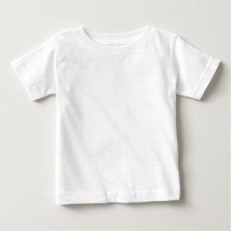 Camiseta infantil blanca llana para los bebés playera
