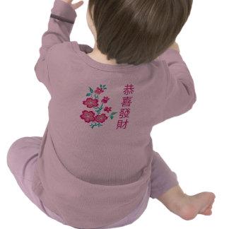 Camiseta infantil china 2 del Año Nuevo de Sakura