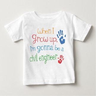 Camiseta infantil civil del bebé del ingeniero camisas