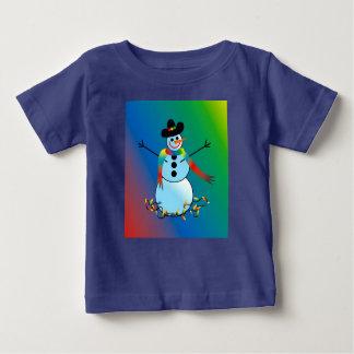 Camiseta infantil con el muñeco de nieve del día polera