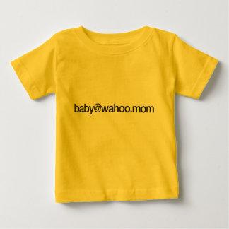 """camiseta infantil de """"baby@wahoo.mom"""" playera para bebé"""