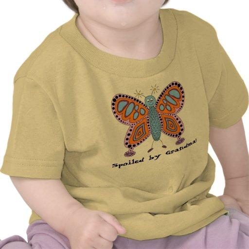 """Camiseta infantil de la abuela de la mariposa """"est"""