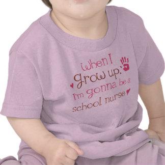 Camiseta infantil del bebé de la enfermera de la e