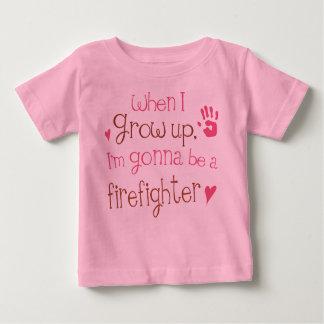 Camiseta infantil del bebé del bombero (futuro) polera