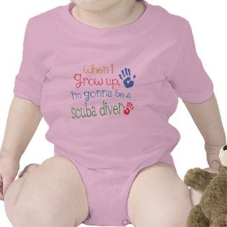 Camiseta infantil del bebé del buceador futuro