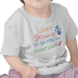 Camiseta infantil del bebé del coche del fútbol