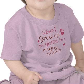 Camiseta infantil del bebé del coche del rugbi