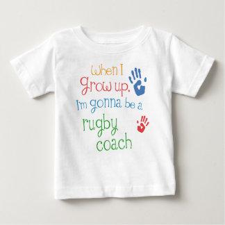 Camiseta infantil del bebé del coche del rugbi playeras