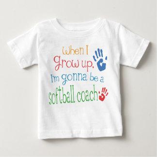 Camiseta infantil del bebé del coche del softball playera