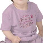Camiseta infantil del bebé del coche del voleibol