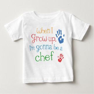 Camiseta infantil del bebé del cocinero (futuro) camisas