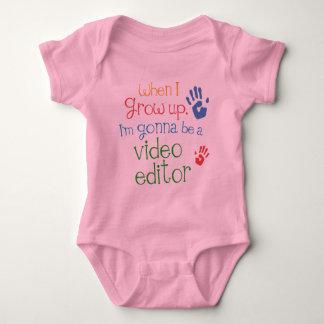 Camiseta infantil del bebé del editor de vídeo camisas