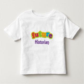 Camiseta infantil del bebé del historiador