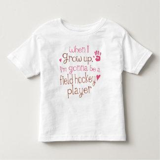 Camiseta infantil del bebé del jugador de hockey polera