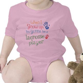 Camiseta infantil del bebé del jugador de LaCrosse