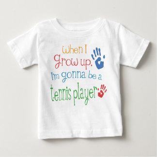 Camiseta infantil del bebé del jugador de tenis