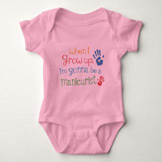 Camiseta infantil del bebé del manicuro (futuro)
