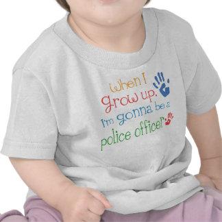 Camiseta infantil del bebé del oficial de policía