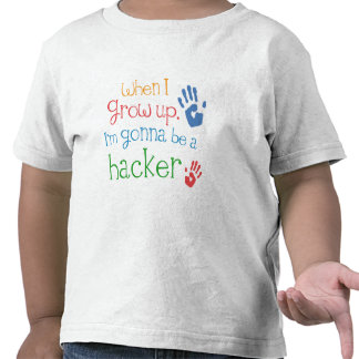 Camiseta infantil del bebé del pirata informático
