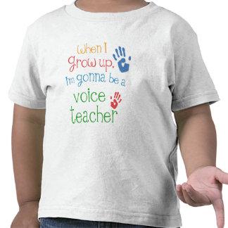 Camiseta infantil del bebé del profesor de la voz