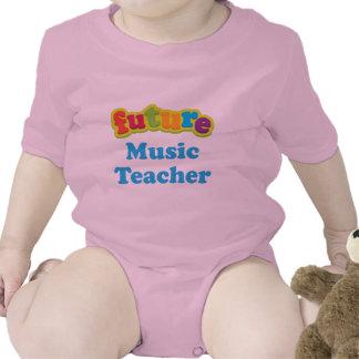 Camiseta infantil del bebé del profesor de música