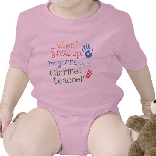 Camiseta infantil del bebé del profesor del Clarin